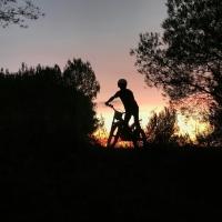 Happy sunday ✌ #sunset #trial #moto #trialsbike